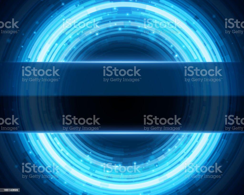 Abstract technology circles digital royalty-free stock vector art
