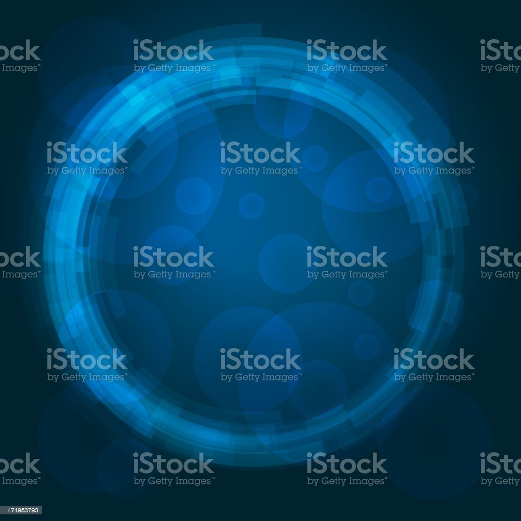 Abstract technology circles vector background royalty-free stock vector art