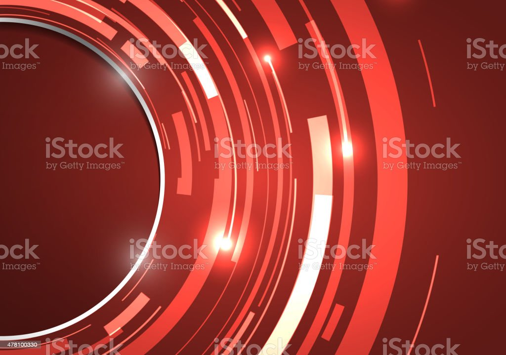 Abstract technology circles vector background vector art illustration