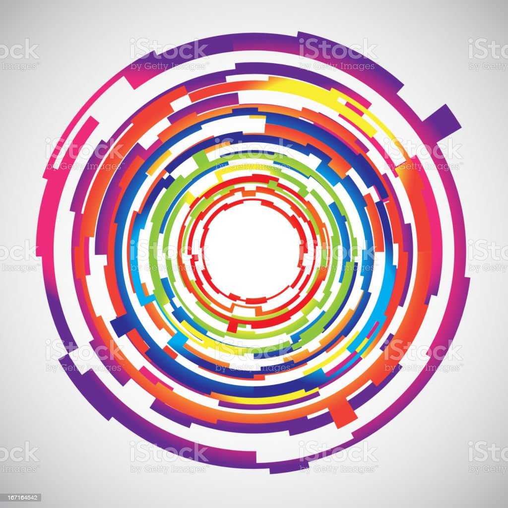 Abstract technology colourful circles background royalty-free stock vector art