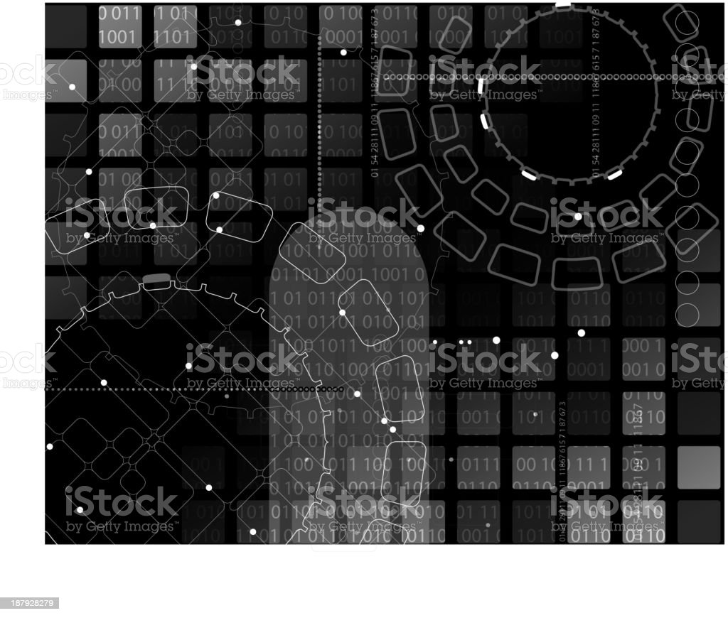 Composición abstracta tecnología illustracion libre de derechos libre de derechos