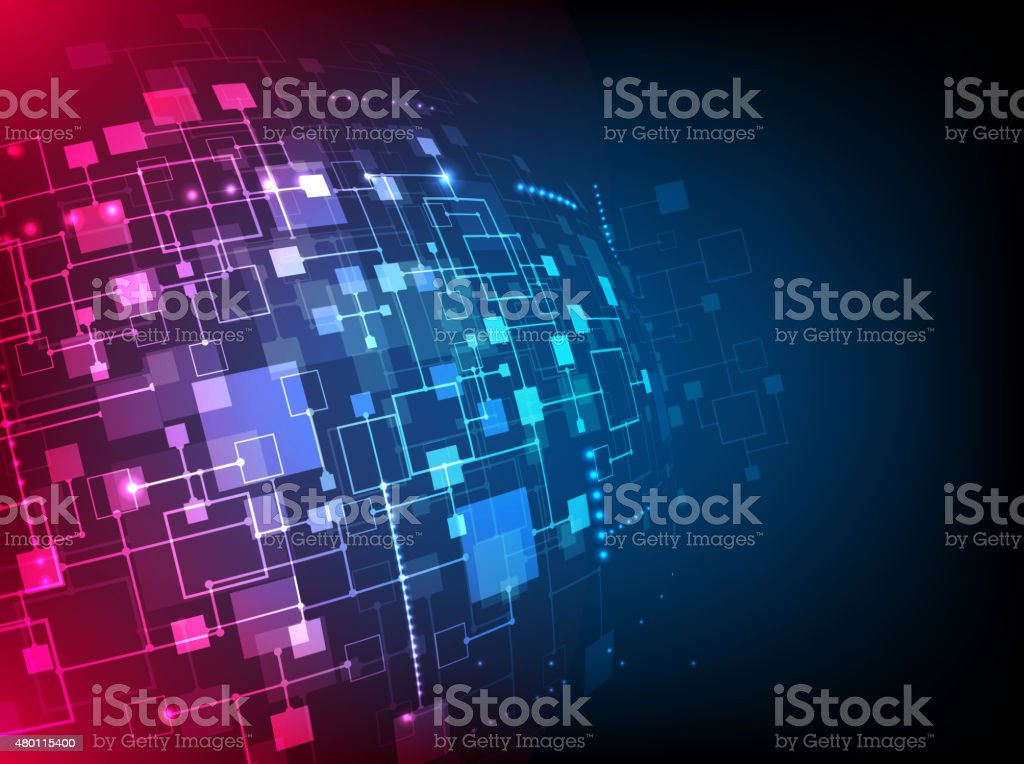 Abstract technology concept of business background. vector art illustration