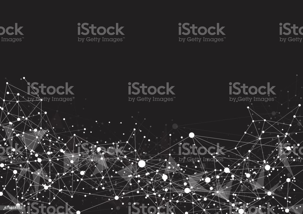Abstract technology futuristic network vector art illustration