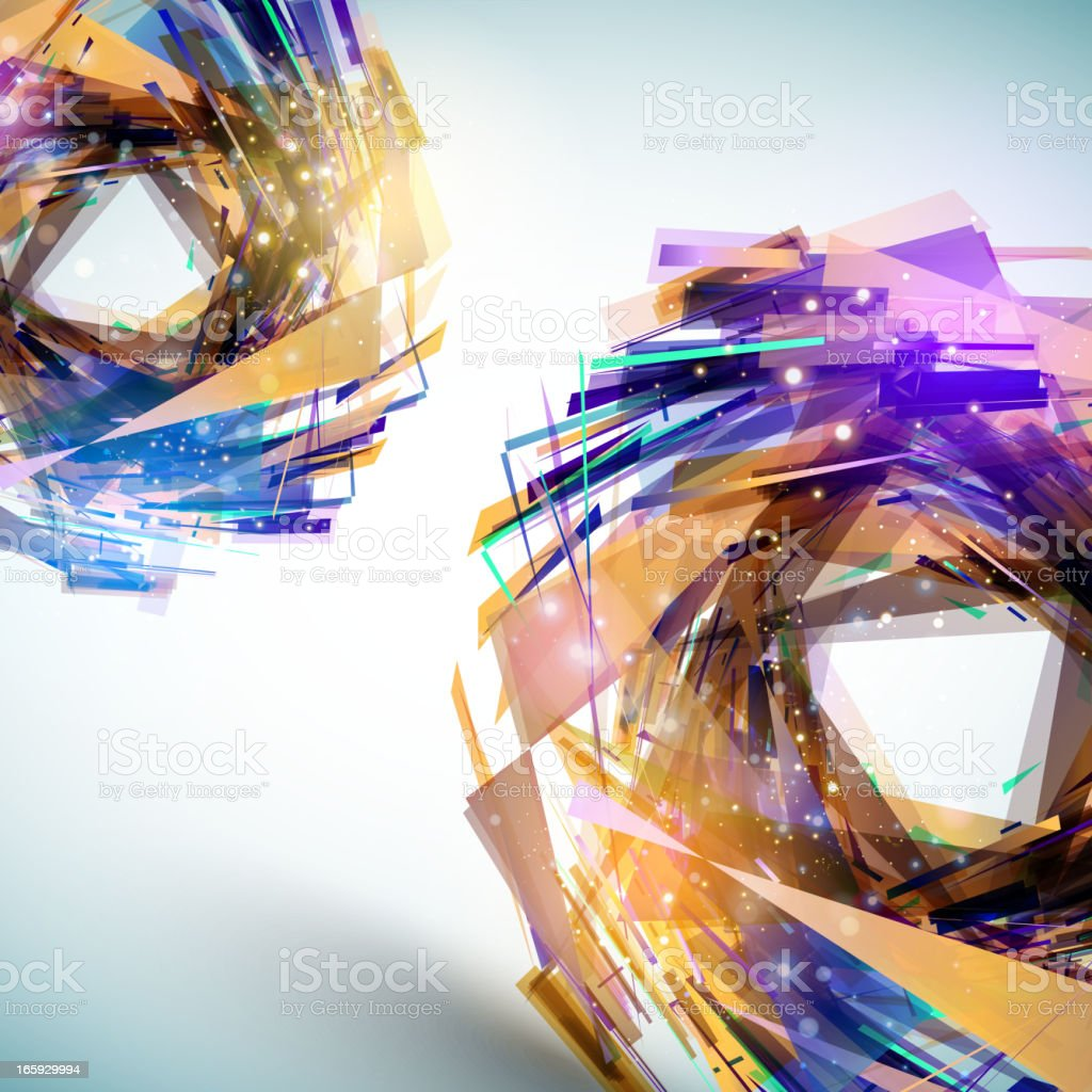 Abstract technology glowing spheres royalty-free stock vector art