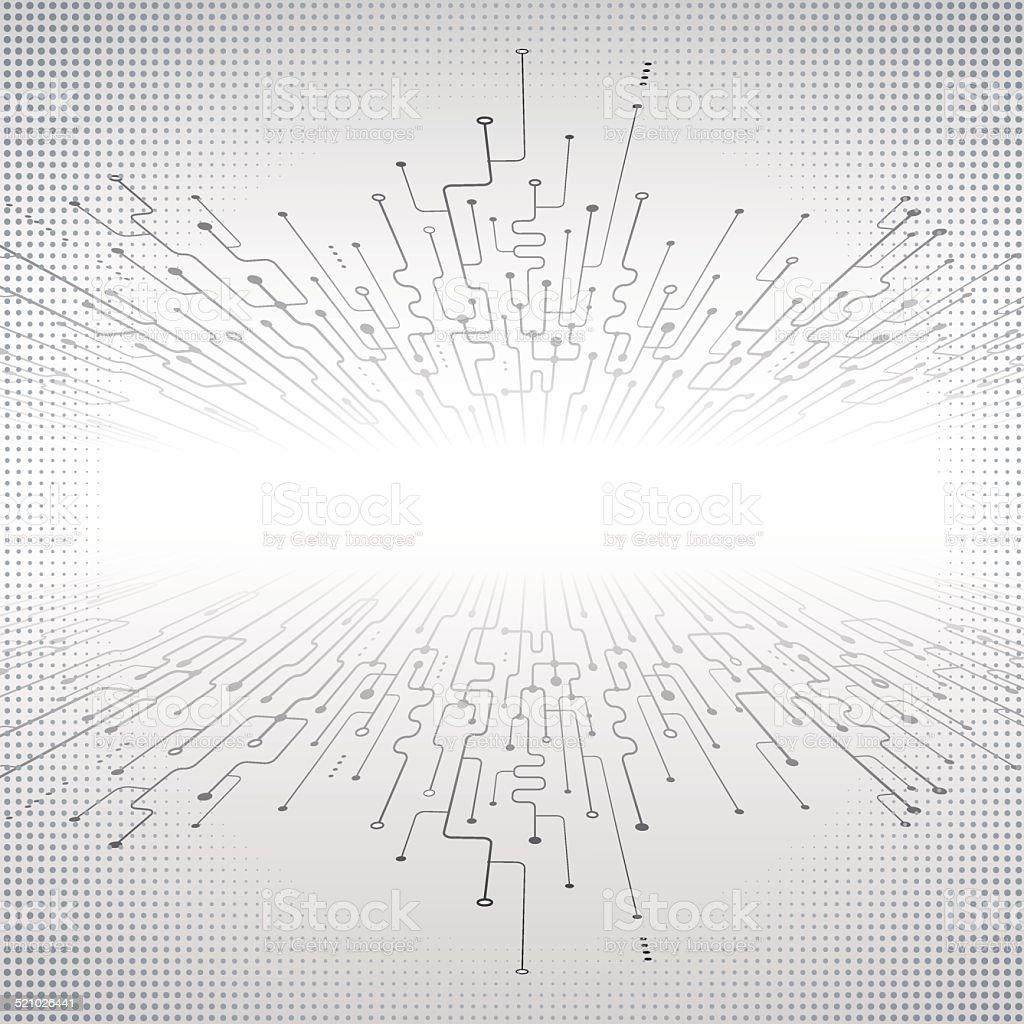 abstract technology hi-tech background vector art illustration
