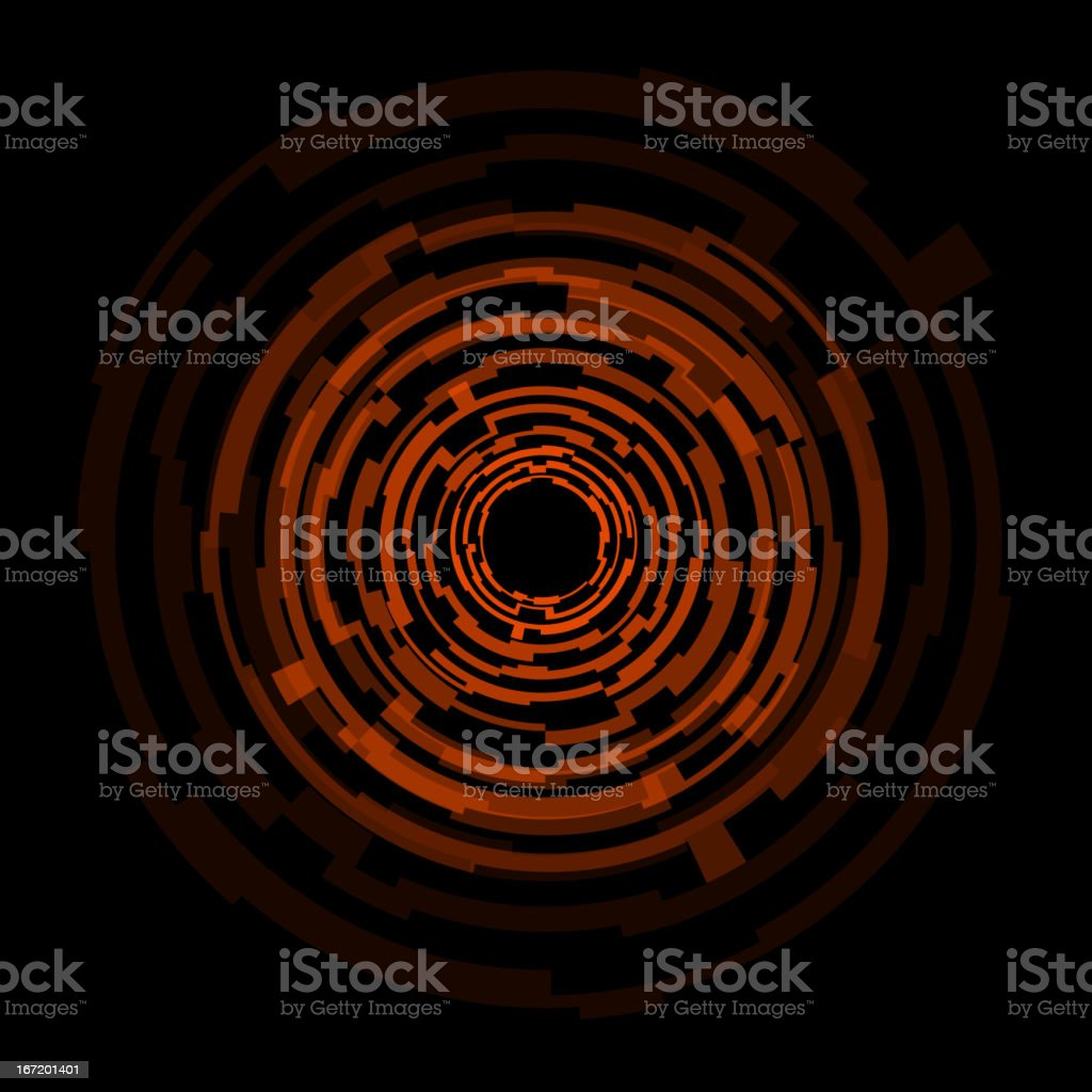 Abstract technology orange circles background royalty-free stock vector art