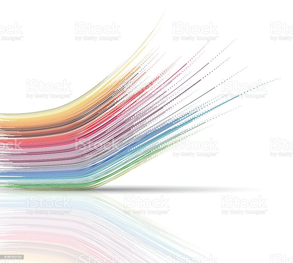 abstract technology wave stripe pattern background vector art illustration