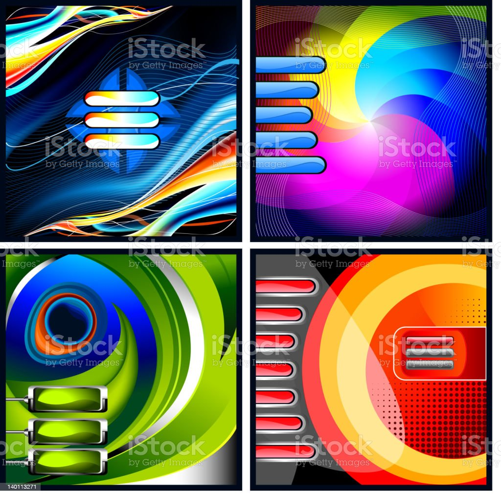 Abstract template backgrounds vector art illustration