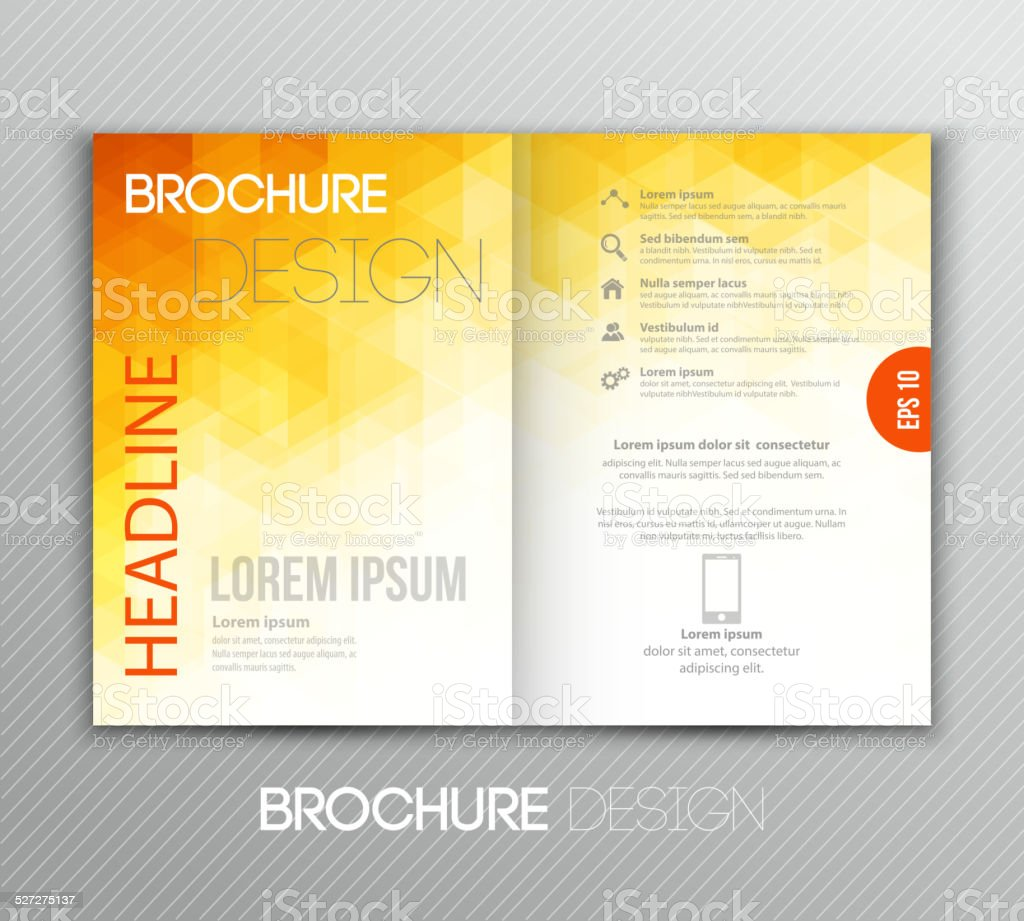 Abstract template brochure design with geometric background vector art illustration