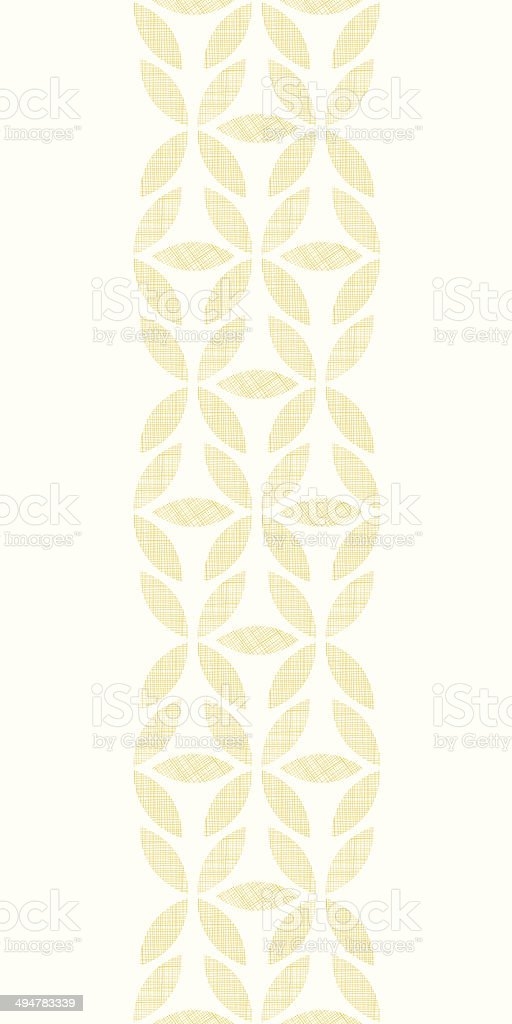 Abstract textile beige leaves vertical seamless pattern background royalty-free stock vector art