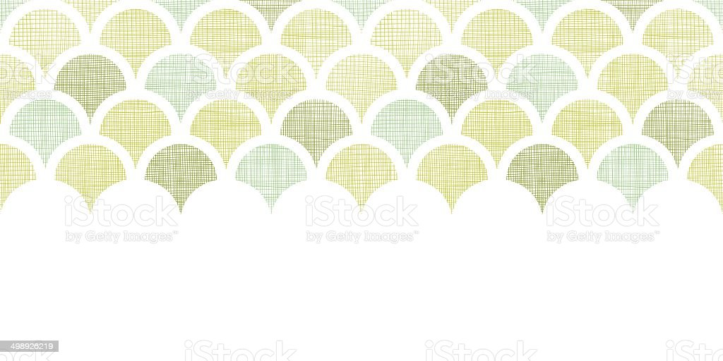 Abstract textile green fishscale horizontal seamless pattern background royalty-free stock vector art
