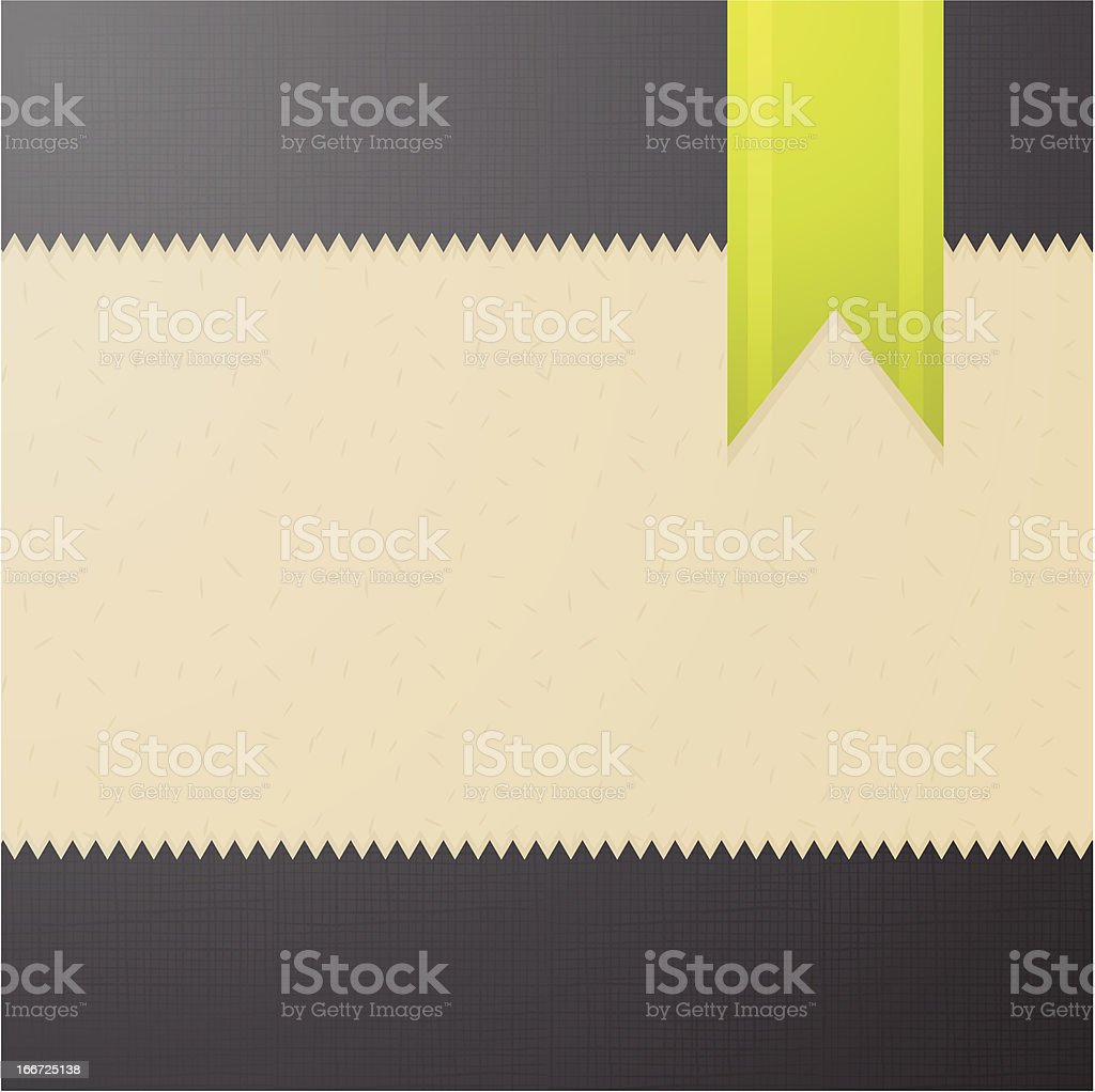 Abstract textured background with green bookmark royalty-free stock vector art