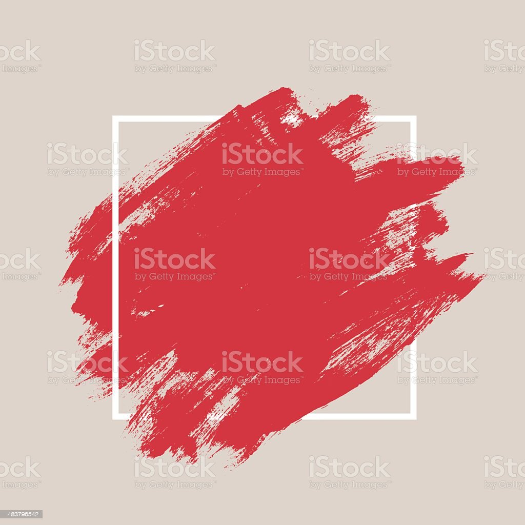 Abstract textured ink brush background vector art illustration