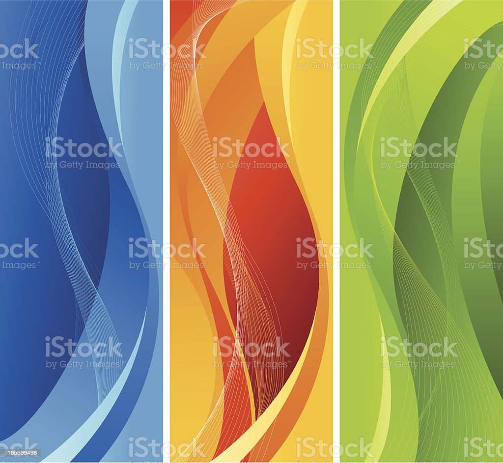 Abstract Three color Design vector art illustration