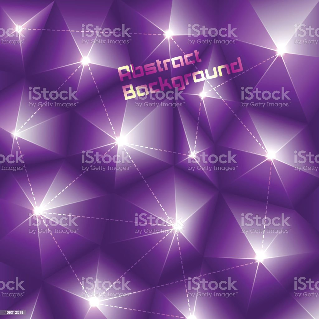 Abstract three-dimensional background. royalty-free stock vector art