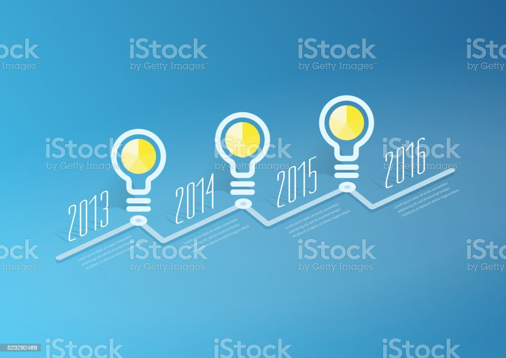 Abstract Timeline Infographic, Vector design template vector art illustration