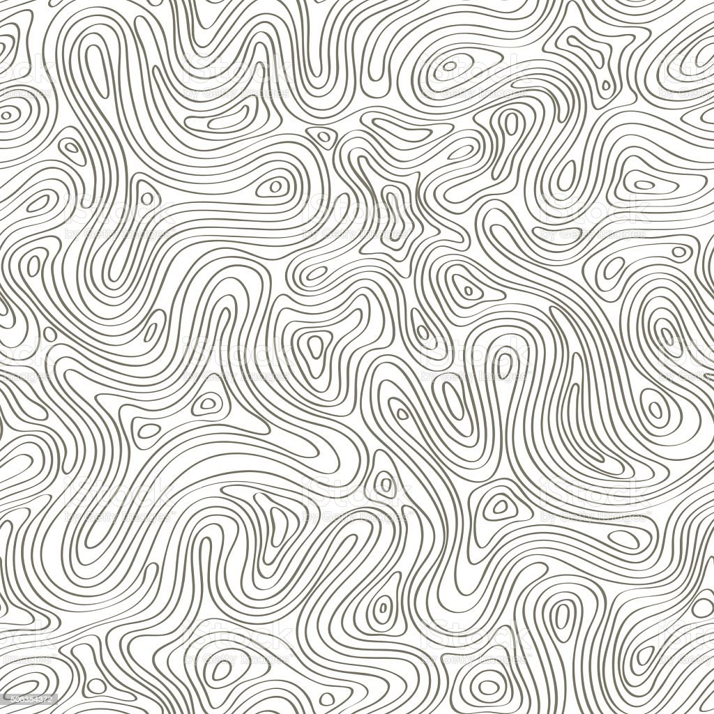 Abstract topography contours vector art illustration