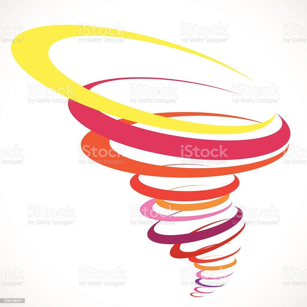 Abstract Tornado Storm vector art illustration