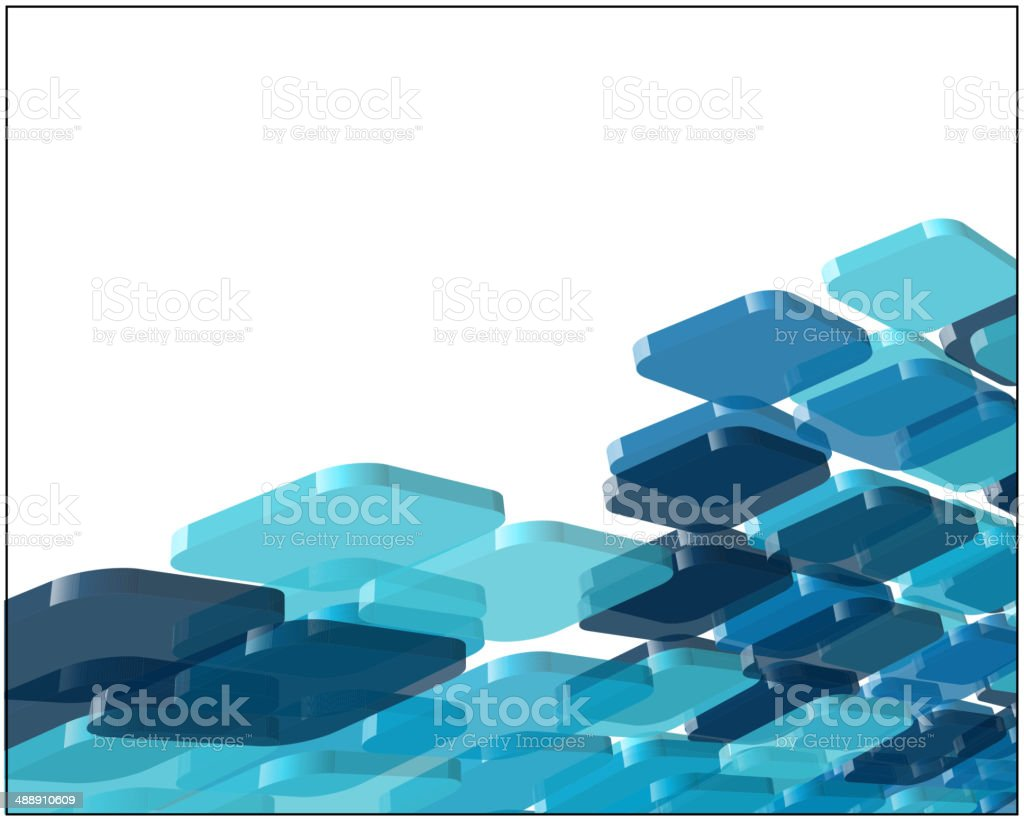 Abstract transparent blue composition vector art illustration