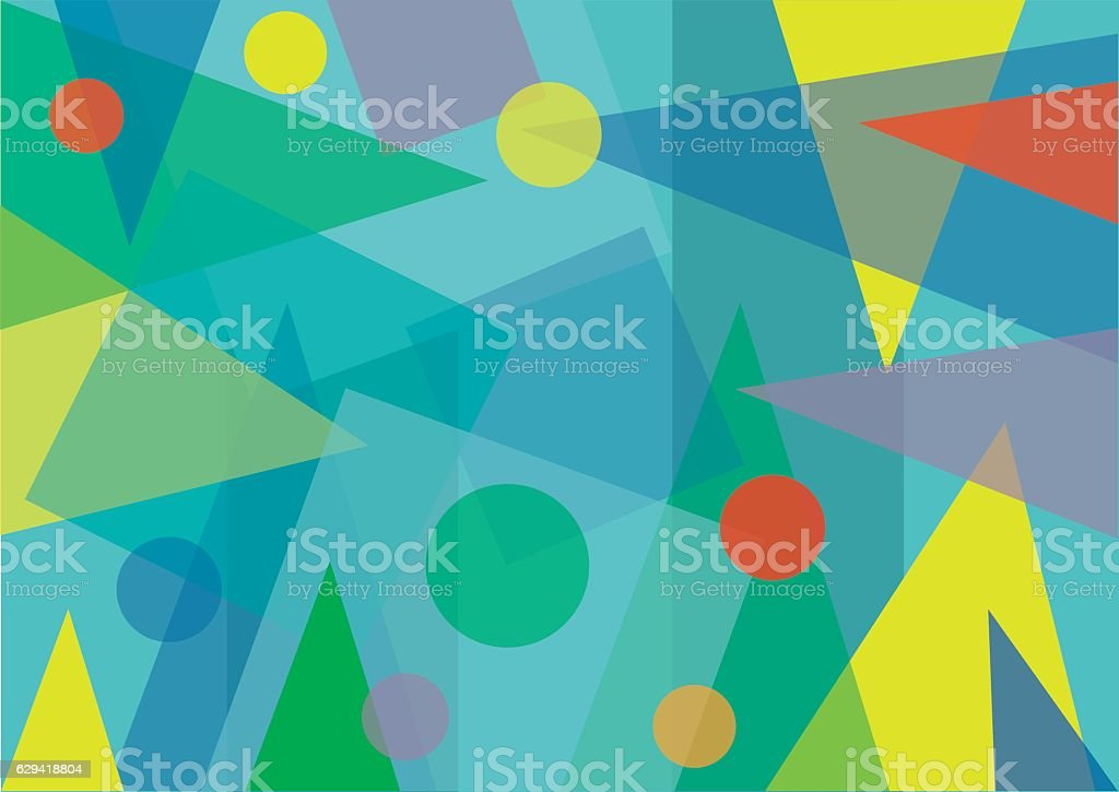Abstract Transparent Geometric Shapes Background vector art illustration