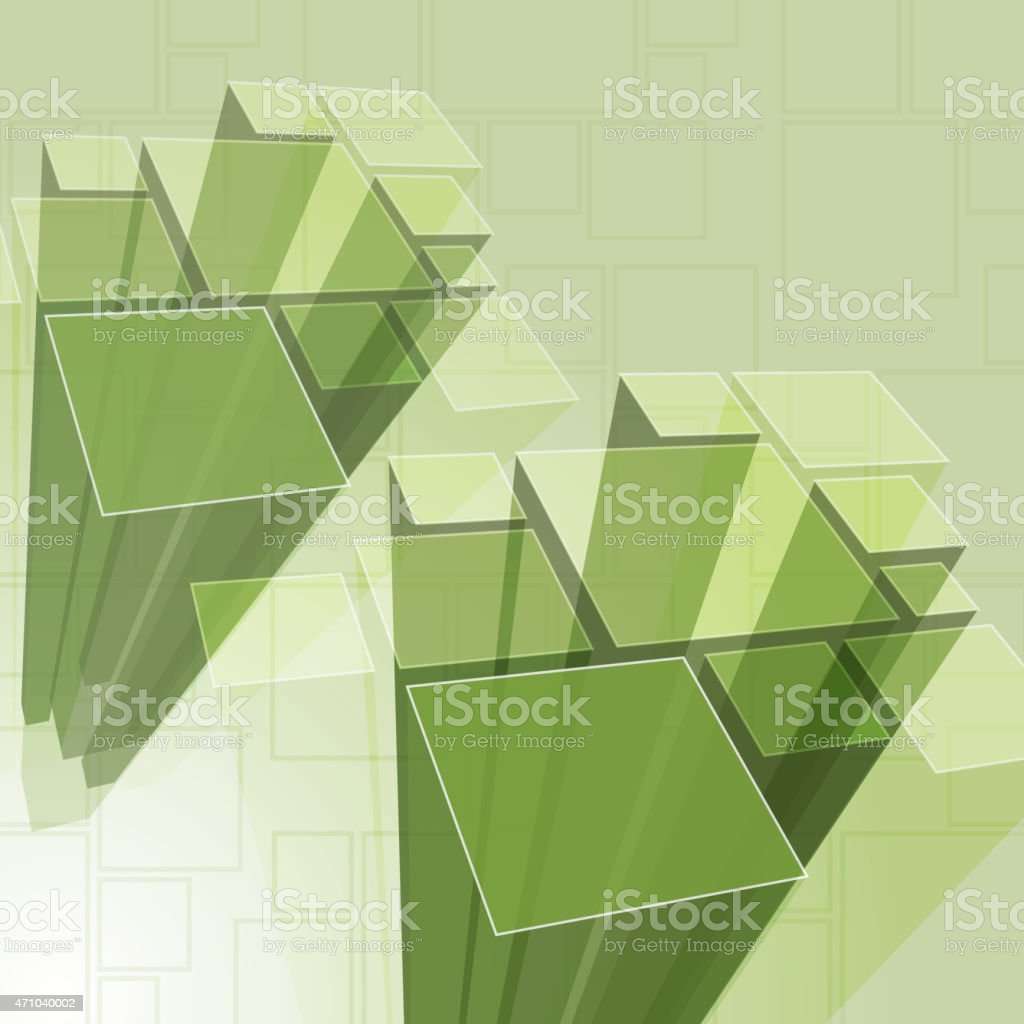 Abstract Transparent Green Prism Background Vector vector art illustration