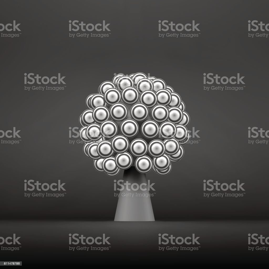 Abstract Tree. Concept for Communication, Business, Social Media, Technology, Network and Web Design. 3d Vector Illustration. vector art illustration