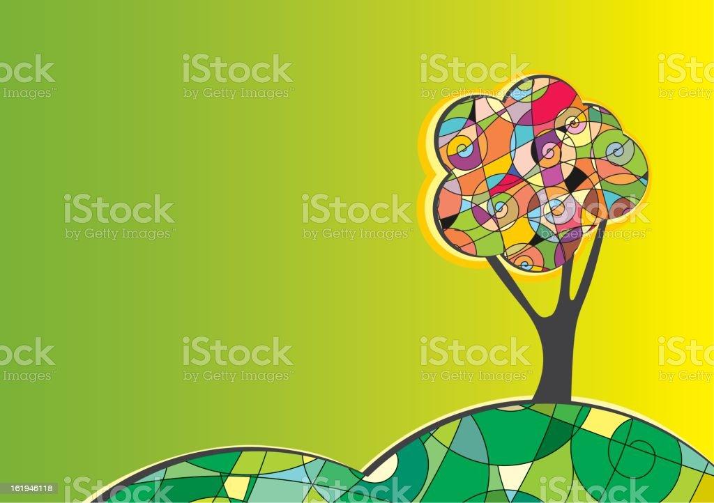 Abstract tree royalty-free stock vector art