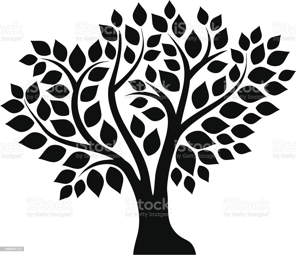 Abstract tree royalty-free stock vector art