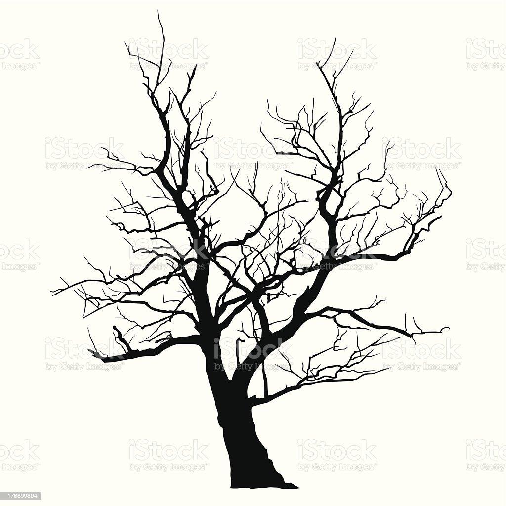 Abstract Tree vector art illustration