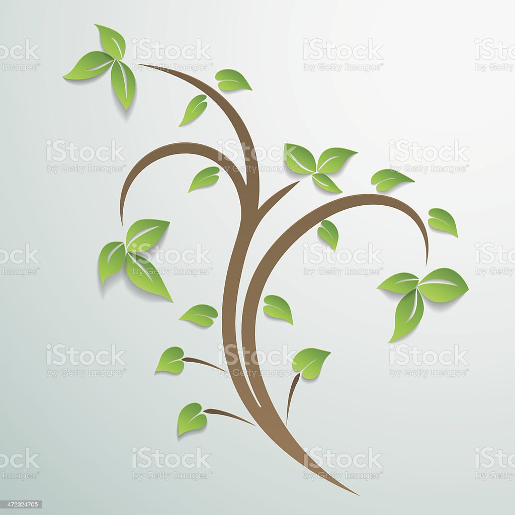 Abstract Tree With Leaves Background. royalty-free stock vector art