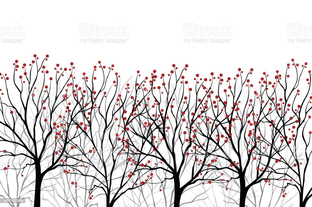 Abstract Trees vector art illustration