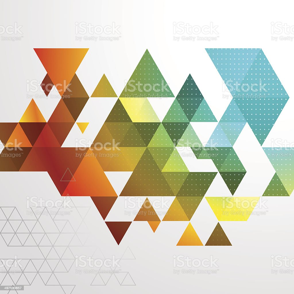 Abstract Triangle BG vector art illustration