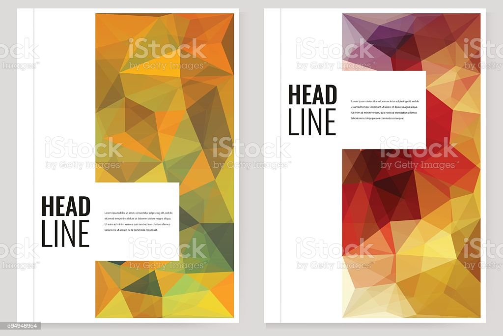 Abstract Triangle Brochure Flyer design template in A4 size. Vector royalty-free stock vector art