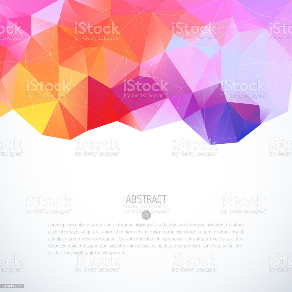 Abstract triangle colorful background vector art illustration