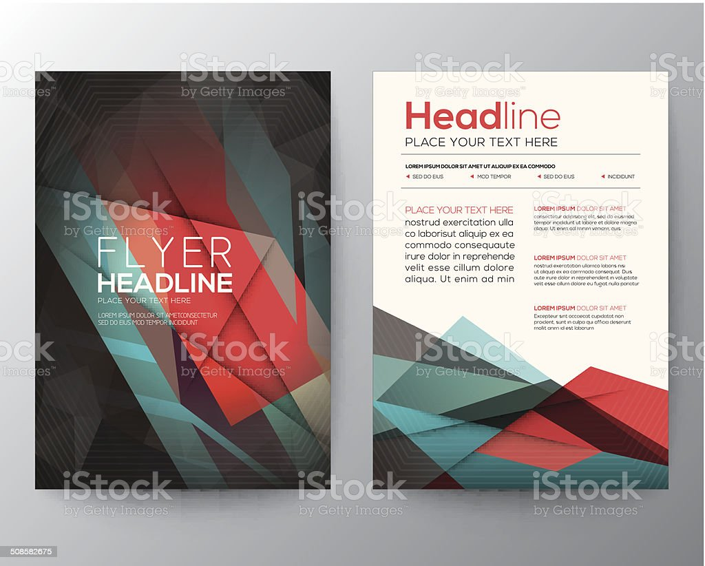 Abstract Triangle Geometric Brochure Flyer design Layout template vector art illustration