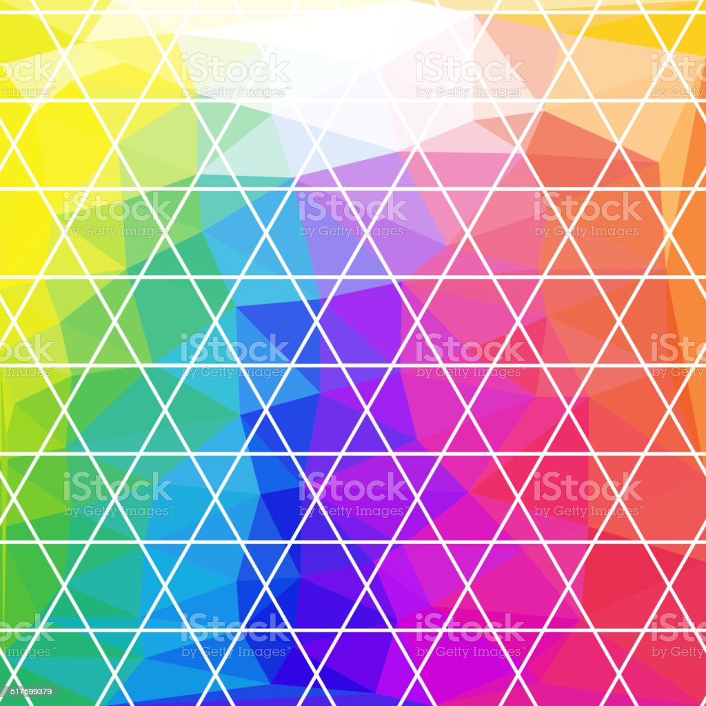 Abstract Triangle Geometrical Multicolored Background, Vector Illustration EPS10 vector art illustration