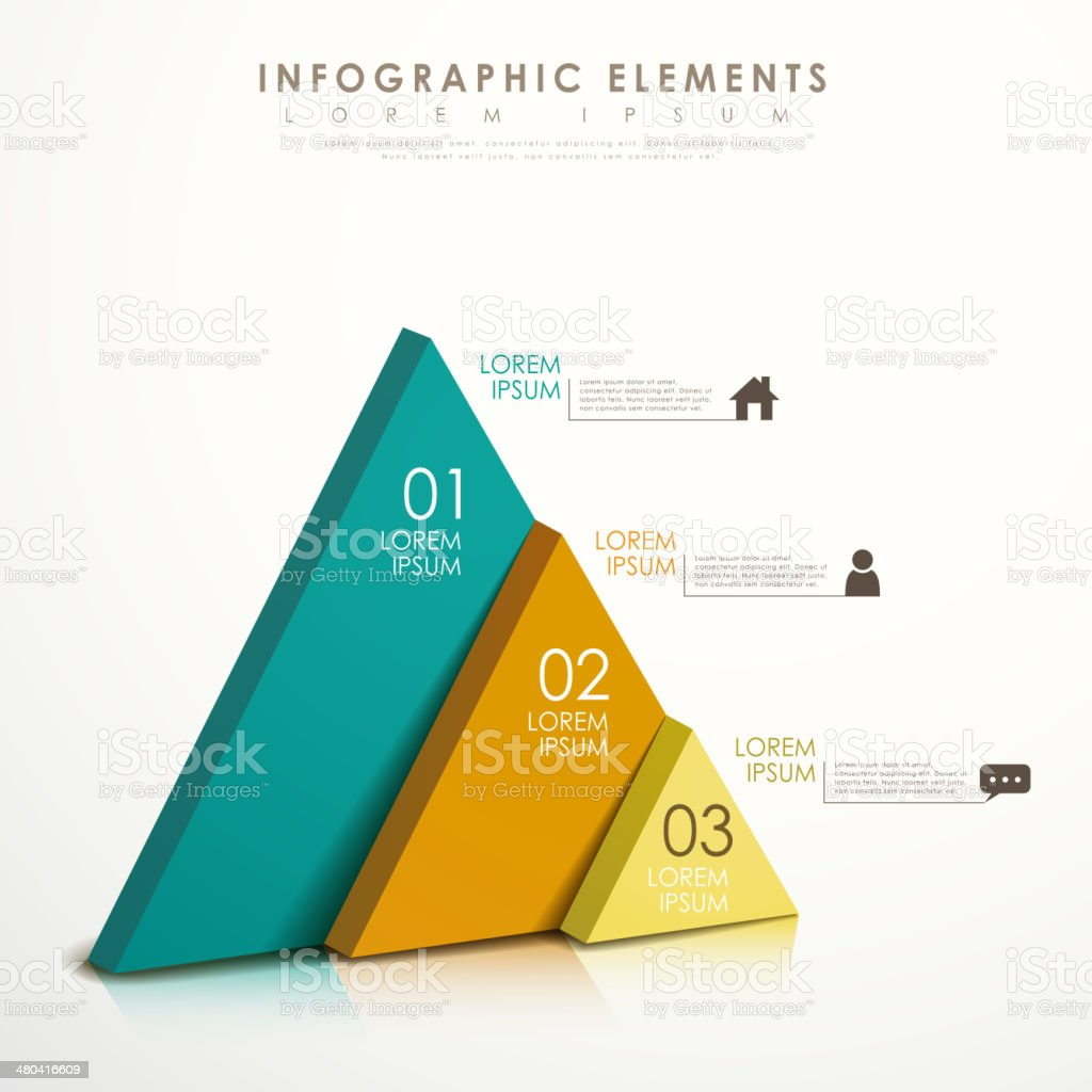 abstract triangle infographics vector art illustration