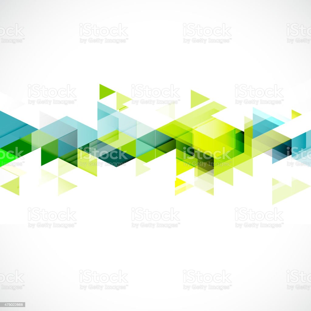 Abstract triangle modern template for business or technology presentation vector art illustration