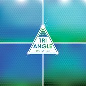 Abstract Triangle shaped backgrounds set Azure-Green Palette