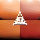 Abstract Triangle shaped backgrounds set Orange-Red Palette