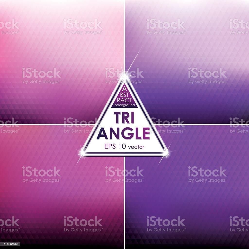 Abstract Triangle shaped backgrounds set Pink-Violet Palette vector art illustration