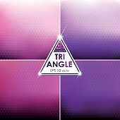 Abstract Triangle shaped backgrounds set Pink-Violet Palette