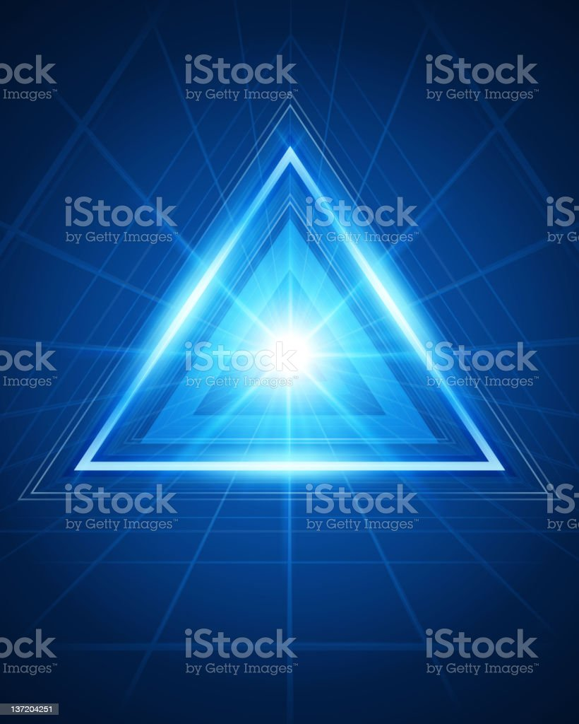 3D abstract triangle tunnel royalty-free stock vector art