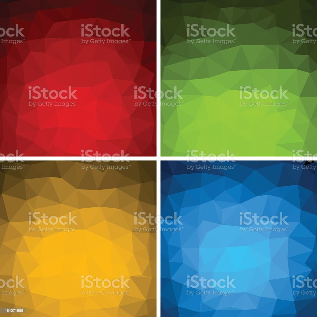 Abstract Triangles Backgrounds vector art illustration