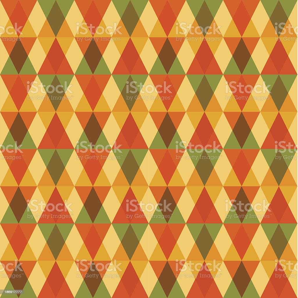 Abstract triangles seamless pattern fall season concept background composition. royalty-free stock vector art