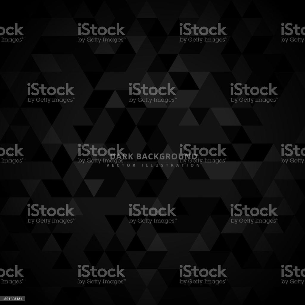 abstract trianglulated dark background vector art illustration