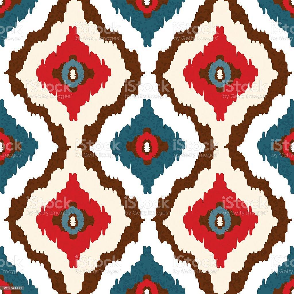 Abstrakte Ethnischen Nahtlose Muster In Ethno Kunst. Ikat Muster  Lizenzfreies Vektor Illustration
