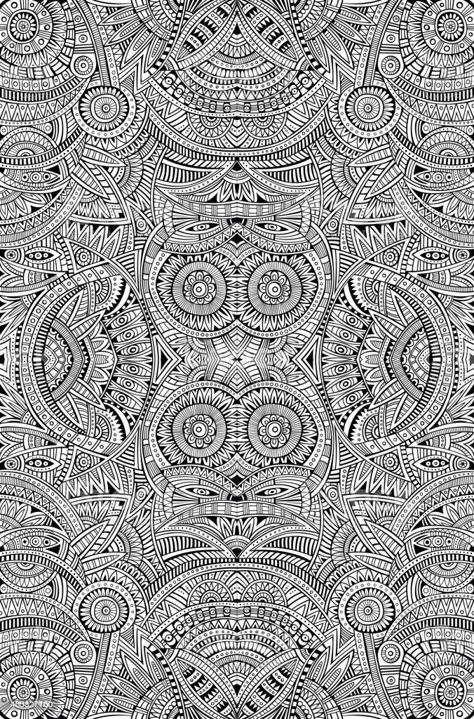 Abstract tribal ethnic background vector art illustration