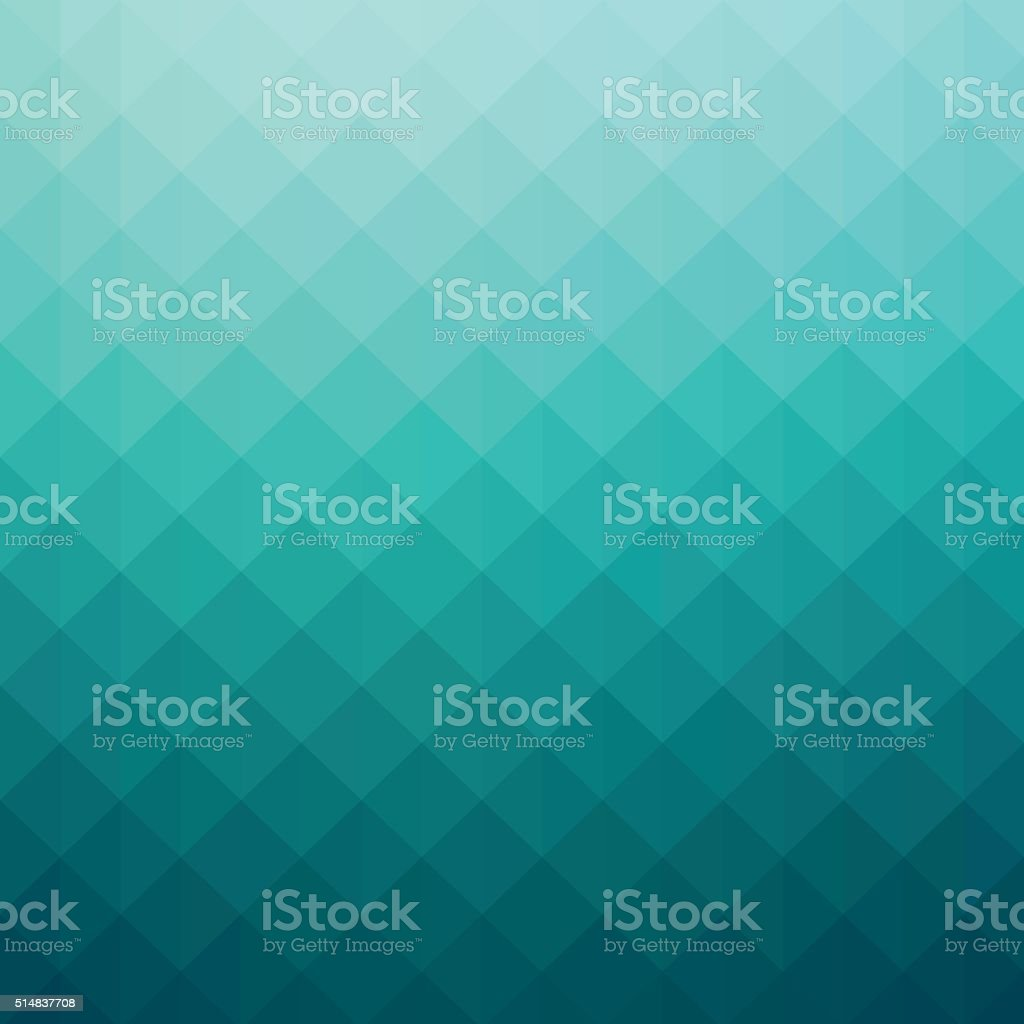 Abstract turquoise colored gradient art geometric background vector art illustration