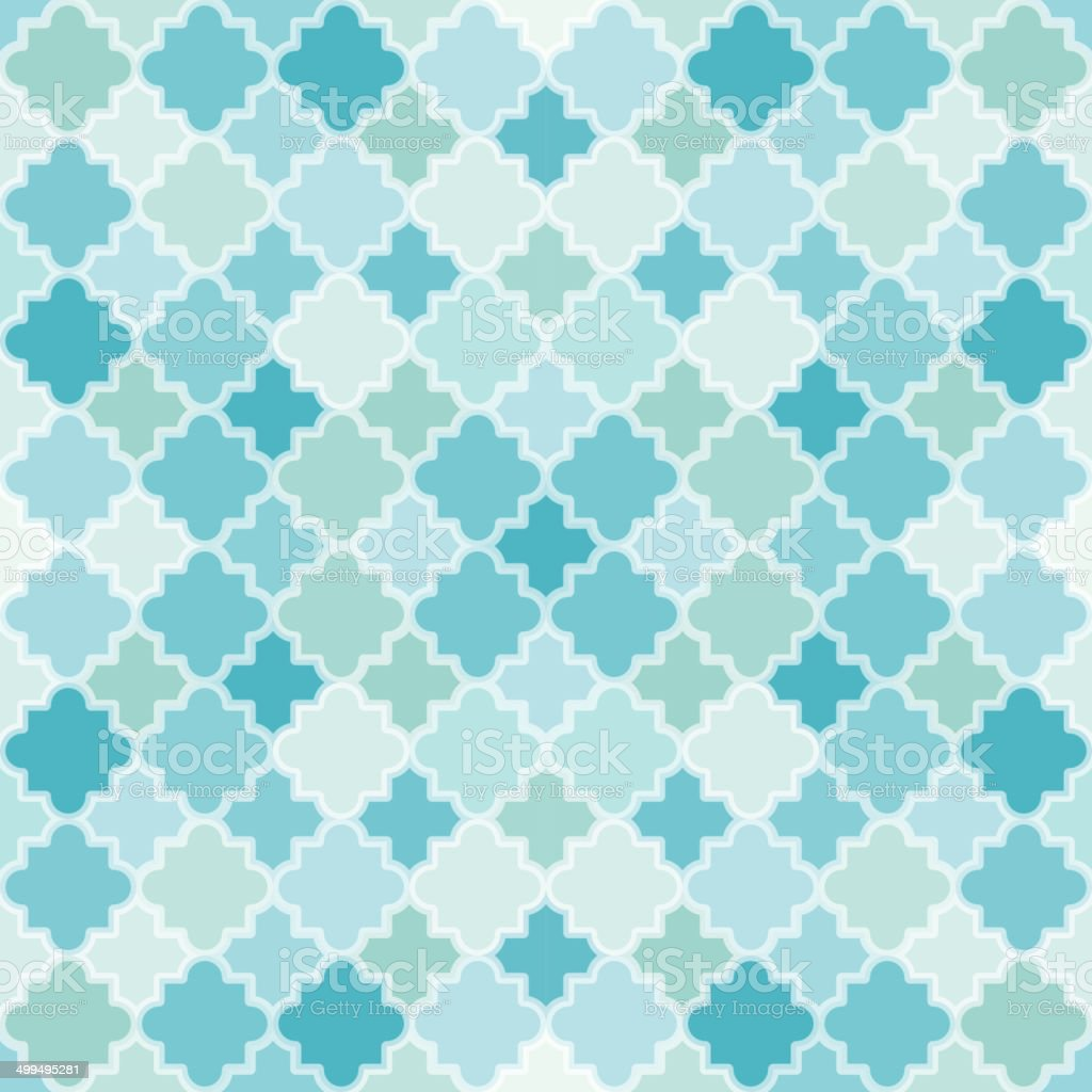 Abstract Turquoise Pattern vector art illustration
